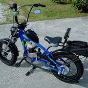 PHOTO GALLERY: Gas & Electric Bike Builds - PedalChopper Mini Chopper, Chopper Bike, Custom Motorcycles, Custom Bikes, Tricycle Bike, Motorised Bike, Motorized Bicycle, Gas And Electric, Cool Bicycles