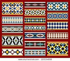 Moorish Seamless Border Set One by Azat1976, via Shutterstock