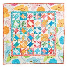 Bountiful Baskets quilt by Alex Anderson for  Accuquilt quilti inspir, bounti basket, basket quilt