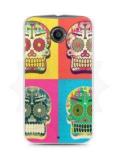 Capa Capinha Moto X2 Caveiras Coloridas - SmartCases - Acessórios para celulares e tablets :)