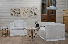 Bemz Slipcovers for Ikea furniture. Karlanda Armchair Cover and Klippan 2-Seater Sofa Cover