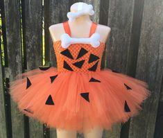 Pebbles inspired tutu dress/ Flintstone tutu/ by JosieJosHeadbands