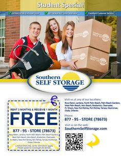 The Southern Self Storage Student Special!