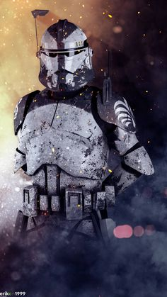 Commander Wolffe joins the battle. by on DeviantArt Star Wars Clones, Star Wars Clone Wars, Star Trek, Star Wars Fan Art, Star Wars Concept Art, Images Star Wars, Star Wars Pictures, Star Citizen, Star Wars Wallpaper