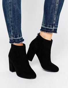 asos black heeled ankle boots