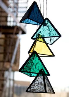 BespokeGlassTile's stunning stained glass pyramids bring new meaning to the term 'window shopping.' #Etsyfinds