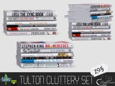 Cluttery Set for the Tulton Series. The set contains 18 new decorative objects:  Found in TSR Category 'Sims 4 Clutter'