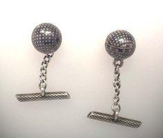 #Cufflinks #Manschettenknöpfe Silberkugeln mit Niello-Muster eingelegt  http://schmuck-boerse.com/maenner/50/detail.htm http://schmuck-boerse.com/index-gold-herrenschmuck-2.htm