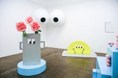 Lazy Oaf's Lazy Land exhibition at Protein Studios in London. Image: Iona Wolff