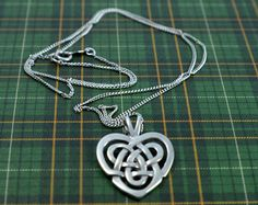 Vintage Sterling Silver Celtic Knot Heart Pendant with Necklace - Edit Listing - Etsy