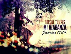 Sáname, oh Jehová, y seré sano; sálvame, y seré salvo; porque tú eres mi alabanza. Jeremías 17:14