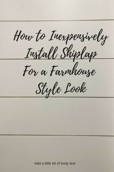 We all love the look of shiplap and the texture it gives walls. I personally feel like every room in the home should have some architectural element and shiplap is the hottest thing out there now! So I am going to share with you how I installed shiplap in my laundry room to give it a farmhouse look.