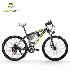 RichBit RT-006 250W Electric Bicycle 36V 10.4Ah Lithium Battery Electric Bike Mountain Ebike 26 Inch 21 Speed ebike MTB Cycling