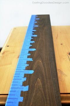 DIY Ruler Growth Chart