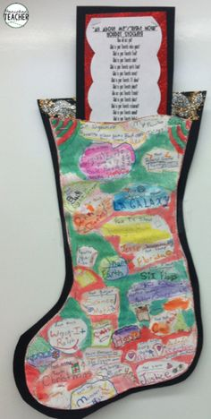 All About Me Stocking Project: A great project right before the holidays!