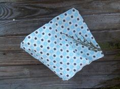 Vintage Blue Sewing Material Scrap on Sale  by happydayantiques