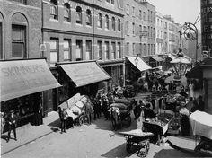 Earlham St Market, Holborn - c1913