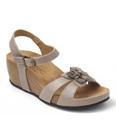 107bb9d954ccc Love this Taupe Gibraltar Leather Sandal by Vionic with Orthaheel  Technology on  zulily!
