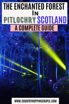Experience autumn in a completely different package. Draped with colourful lights and music in the middle of forest, The Enchanted Forest is a must attend event in Scotland during autumn season. Here's our complete guide and top tips that you want to know while visiting this event in Pitlochry. | The Enchanted Forest Pitlochry | Pitlochry Scotland | Pitlochry Attractions | Scotland Travel