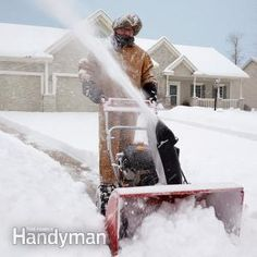 These snow blowing tips explain how to maintain and operate your snowblower for maximum efficiency and safety.