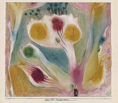 """""""ONE DAY I WILL LIE NOWHERE WITH AN ANGEL AT MY SIDE"""" -PAUL KLEE  Tropical Flowers, Paul Klee"""