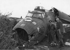 This was the most likely outcome of the encounter, Luftwaffe officers are inspecting the wreck of B-17