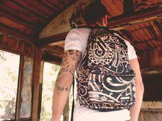 "#bonne backpack, ""Maori"" stamp, #fashion #maori #backpack #bags #bonnebags"