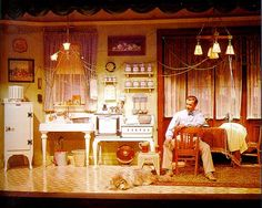 1964 Worlds Fair - General Electric- The Carousel Theatre-this scene depicted a home in the 1920's