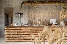 Image 9 of 23 from gallery of Cafe that Resembles Jeju Island / STARSIS. Photograph by Hong Seokgyu Rustic Restaurant, Restaurant Design, Restaurant Bar, Cafe Interior Design, Cafe Design, House Design, Bar A Vin, Estilo Interior, Jeju Island