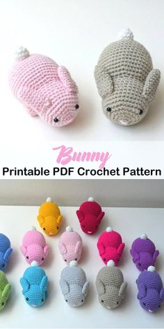 Make a cute bunny bunny crochet pattern easter crochet pattern pdf amorecraftylife com crochet crochetpattern crochet easter chick amigurumi free patterns Crochet Easter, Crochet Mignon, Easter Crochet Patterns, Crochet Bunny Pattern, Crochet Motifs, Cute Crochet, Crochet Crafts, Crochet Baby, Crochet Projects