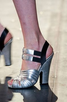 Prada Fall 2013 Double-Buckled Sandals