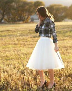 How about just a tulle skirt (that I can make myself) with a nice white top