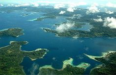 Aerial view of the Solomon Islands.