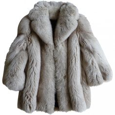 FOX FUR JACKET, SAND COLOUR AUTRE MARQUE ($625) ❤ liked on Polyvore featuring outerwear, jackets, coats and coats & jackets