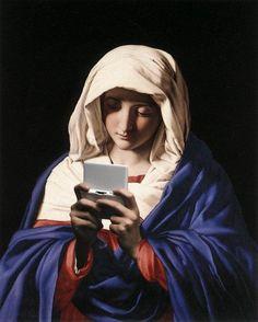 Virgin Mary in prayer G.Battista Salvi (aka National Gallery, London God bless you Madonna Art, National Gallery, Photocollage, Blessed Virgin Mary, Arte Pop, Blessed Mother, Sacred Art, Renaissance Art, Funny Art