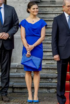 Crown Princess Victoria of Sweden attended a ceremony to mark the 20th anniversary of the ...