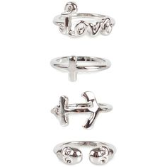 Nly Trend Trill Top Rings ($15) ❤ liked on Polyvore featuring jewelry, rings, accessories, bijoux, aneis, silver, womens-fashion, nly trend, silver rings and silver jewellery