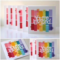 Rainbow party ideas- invites, cake, decorations.