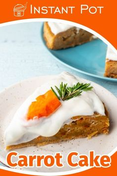 Carrot cake is fluffy and scrumptious and you can make it easily on your Instant Pot!    You can use a glaze of cream cheese and decorate with baby carrot, pecan nuts and rosemary. Best Pressure Cooker Recipes, Instant Pot Pressure Cooker, Slow Cooker Recipes, Best Dessert Recipes, Dinner Recipes, Desserts, Pecan Nuts, Kitchen Recipes, International Recipes