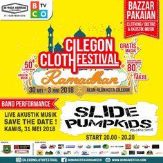 SAVE THE DATE YESS !!! Live Akustik Musik with @slidepumpkids_official at @cilegonclothfestival Gigs Kamis, 31 Mei 2018 Start 20.00 - 20.20  At Alun - Alun Kota Cilegon • • FREE ENTRY BRADER !!! Jadi Stay lebih awal, Angkat tangan bersama dan Terdepan #pumpkidskats • • Mensana in corporesano Salam #pumpkidskats !!! 😍😂 • • Don't miss it yes ! Save your money ! Awas rame pajubel 🤟 • • #cilegonclothingfestival #ramadhan #cilegon #clothing #festival #slidepumpkids #pumpkidskats #punkrock…