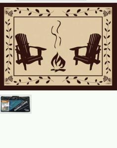 Reversible Outdoor Campfire Camping Rug Mat Rv Camper Patio Deck New 6x9