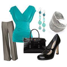 Turquoise & Grey