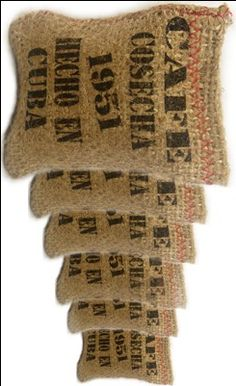 Check out the deal on Mini  retro coffee sacks.  Set of 6 at CubanFoodMarket.com