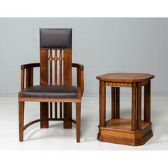 Käsinojallinen tuoli ja pöytä, jugend. Art Nouveau, Art Deco, Finland, Bar Stools, Dining Chairs, Furniture, Home Decor, Bar Stool Sports, Decoration Home