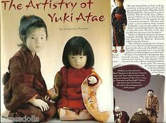 2001 Magazine Clipping Doll Article ARTISTRY OF YUKI ATAE soft sculpture artist
