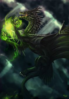 Black Dragon | Black Dragon-09 by elen89
