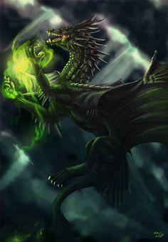 Black Dragon   Black Dragon-09 by ~elen89 on deviantART