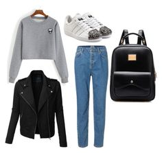 """""""Untitled #214"""" by lignonolivia on Polyvore featuring LE3NO and adidas Originals"""