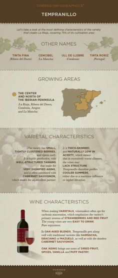 Tempranillo Wine Cheat Sheet #Infographic #Infografía