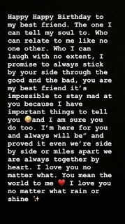top 10 best birthday wish paragraph for bestie Happy Birthday Best Friend Quotes, Best Birthday Wishes, Happy Birthday Me, Birthday Greetings, Dear Best Friend Letters, Pick Up Line Jokes, Birthday Captions Instagram, Happy Birthday Template, Message For Dad